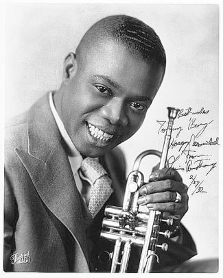 One of the most, if not THE most famous Jazz musicians - LOUIS ARMSTONG [in his twenties]